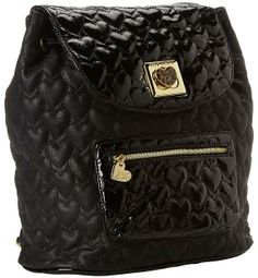 Betsey Johnson Will You Be Mine Backpack (Black) - Bags and Luggage on shopstyle.com