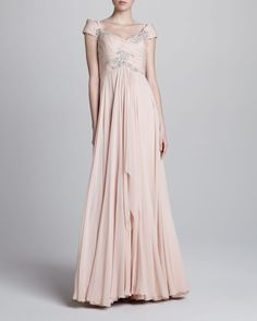 8ffea484a6364 Marchesa Couture Bead-Embellished Chiffon Gown -  5