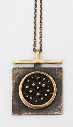 Jorma Laine necklace, Finland. Bohemian Jewellery, Bronze Jewelry, Precious Metal Clay, Silver Work, Vintage Jewelry, Unique Jewelry, Metal Necklaces, Contemporary Jewellery, Handcrafted Jewelry