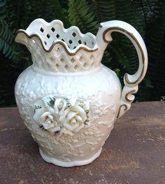 Vintage Ceramic Pitcher Vintage Vase English Cottage Decor White Vase White Pitcher https://www.etsy.com/listing/509937776/vintage-ceramic-pitcher-vintage-vase?utm_campaign=crowdfire&utm_content=crowdfire&utm_medium=social&utm_source=pinterest