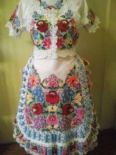 Vintage Hungarian Kalocsa Folk Art Hand Embroidered Ethnic Costume   eBay