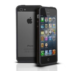 Photive Hybrid iPhone 5 Bumper Case – Black. Designed for The New iPhone 5