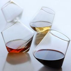 Sleek Glass Barware by Sempli - Oh no this might confuse me after a few glasses of wine >> lol. Fun Wine Glasses, Shot Glasses, Alcohol Glasses, Whiskey Glasses, In Vino Veritas, Wine Time, Cool Stuff, Random Stuff, Cool Gadgets