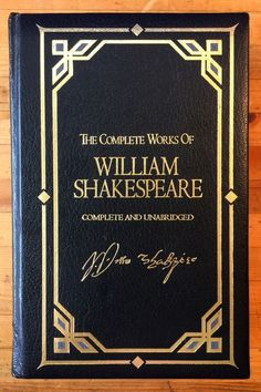 The Complete Works of William Shakespeare Unabridged Leatherbound HC Deluxe 1990
