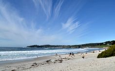 A typical day of sunshine and clouds at Carmel Beach
