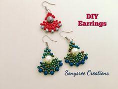(5) DIY Peacock Beaded Earrings 💞 - YouTube