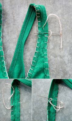 DIY embroidered t-shirt.  What a cute little idea!