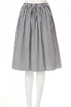 ストライプタックギャザースカート   スカート   NATURAL BEAUTY   MIX.Tokyo