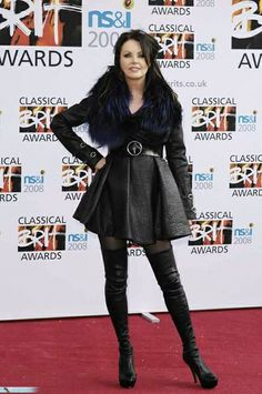 Beautiful Voice, Beautiful Person, Most Beautiful, Sarah Brightman, Celebrity Boots, Leather Outfits, Female Celebrities, High Heel Boots, Crossover