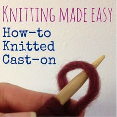 How To Cast On Stitches When Knitting In The Round : Knitting & Crochet Tutorials on Pinterest Knitting, Knits and Stitches