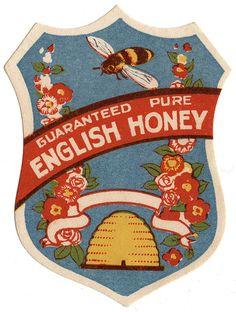 english honey label by maraid, via Flickr