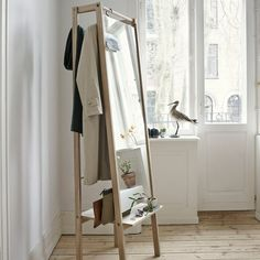 Skagerak+Push+Mirror+Oak+-+Contemporary+A-frame+oak+mirror+with+concealed+storage+rack. The+iconic+Danish+brand+Skagerak+are+all+about+modern,+cool,+Nordic+furniture+and+the+Push+Mirror+Oak+is+just+that. Reflect+the+beauty+of+your+interior+with+this+gloriously+Scandic+mirror+meets+clever+storage+solution. Specifically+developed+for+the+hall+or+bedroom,+this+clever+mirror+is+simple+in+form,+suspended+by+an+A-shaped+oak+frame+which+draws+the+eye+to+the+floating+mirror+in+between. Best+yet,...