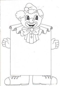 Preschool Clown Coloring Pages - Preschool Activity Activities - Ma . Clown Crafts, Carnival Crafts, Carnival Themes, Circus Theme, Theme Carnaval, Outline Pictures, Baby Footprints, Preschool Printables, Kids Corner