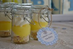Lemon parfaits at a Country Garden shower