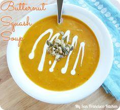 Butternut Squash Soup  #soup #healthy #recipes #squash