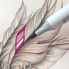 Creating Feathers with Copic Markers