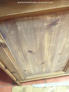 efecto madera lavada Decoupage Furniture, Chalk Paint, Hardwood Floors, Shabby Chic, Tray, Kitchen, Painting, Home Decor, Living Comedor
