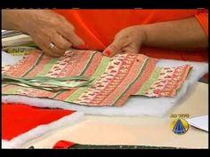 Patchwork Maria Adna - Cesto (cesta) de costura em patchwork - Técnica patchwork foundation - YouTube