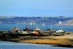 Camaret sur mer, bateaux désarmés sur le Sillon. Régis Cariou.  Finistère, Bretagne.