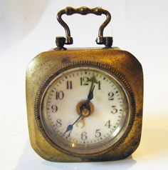 Antique Brass Nautical Maritime Ships Clock With Moveable Handle Rare and Interesting by parkledge on Etsy