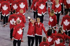 Members of team Canada take a selfie during the opening ceremony of the 2016 Summer Olympics in Rio de Janeiro, Brazil, Friday, Aug. 5, 2016. (AP / Charlie Riedel)