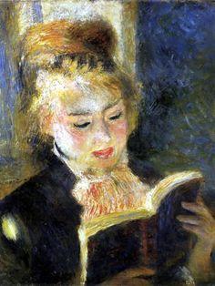 La Hora del Fuego: Mujer leyendo, de Renoir.