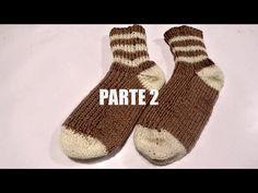KNITTING WOOL SOCKS  / CALCETIN DE LANA TEJIDO parte 1. - YouTube