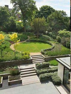 Interesting And Minimalist Garden Design Ideas. Below are the And Minimalist Garden Design Ideas Mediterranean Garden Design, Home Garden Design, Modern Garden Design, Landscape Design, Farmhouse Garden, Garden Cottage, Garden Spaces, Balcony Garden, Steep Gardens