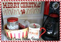 Sunny Simple Life: Hot Cocoa Station Ideas