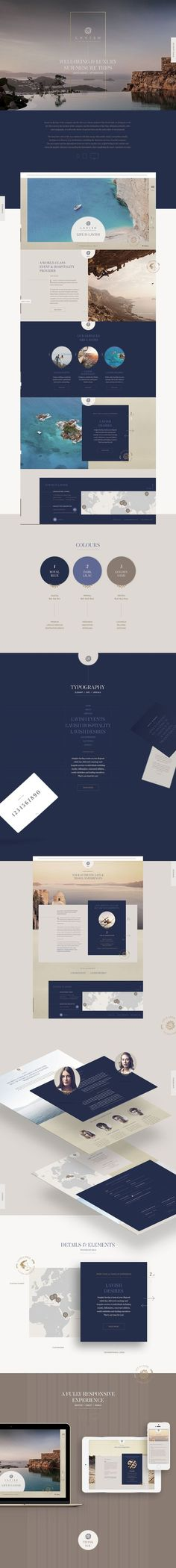 Lavish company has assigned us to design its online communication, namely a website that conveys planning sur-mesure trips of well-being and luxury.Based on the logo of the company and the olive as a classic symbol of the Greek land, we designed a websi…: