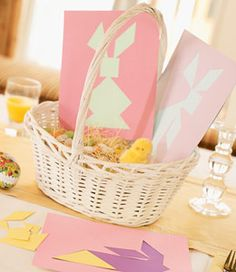 use the pattern provided to make bunny tangrams...cut out and paste on paper or make out of wood for many hours of fun designing