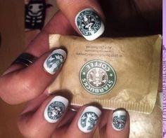 Starbucks nails! original idea