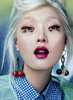 Sung Hee by David Slijper for Vogue China February 2016. Fashion editor: Anna Trevelyan Hair stylist: Thanos Samaras Makeup artist: Lisa Houghton Manicurist: Naomi Yasuda
