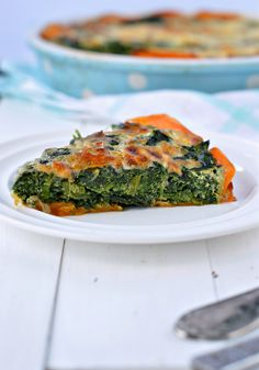 sweet potatoes crusted spinach quiche