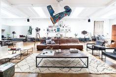 Un loft con mucho arte