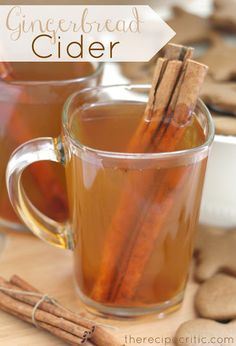 Gingerbread Cider at https://therecipecritic.com  This is absolutely delicious and has the perfect blend of spices.  Perfect for warming you up on a cold day!