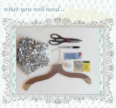 Sequin hanger tutorial