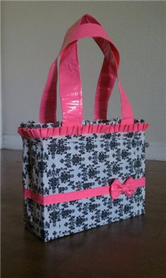 """I can sew all day long but not sure I know how to execute this """"duck tape"""" purse!"""
