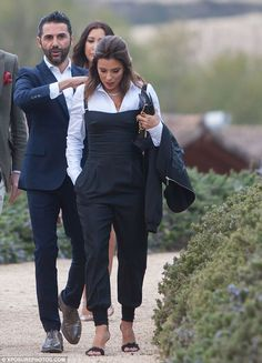 Supportive:The Latina actress, 42, was joined by husband José Bastón for a trip to the sp...