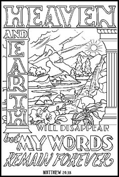 Bible words to color - Matthew 24:38