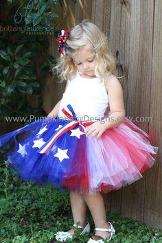 Over The Top Patriotic Tutu by pumpkinbabydesigns on Etsy, $25.00 Little Diamond Models