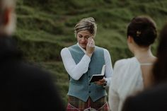 An emotional bride delivers her vows at this touching wedding at Fairy Glen | Image by The Kitcheners.