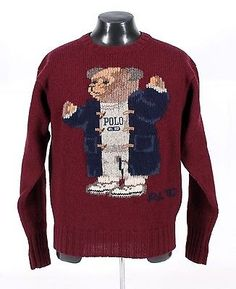 RALPH LAUREN POLO - Bear Sweater RL'92 - Flag Indian - nearly NEW CONDITION