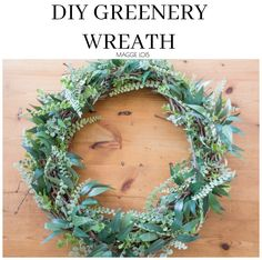 DIY Simple Greenery Wreath, perfect to make for Spring!