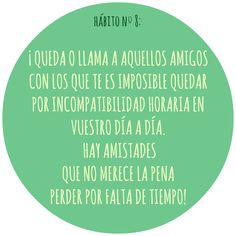 HÁBITO Nº8 Motivation, Live, Healthy, Food, Health, Inspiration