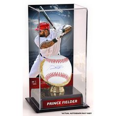 Prince Fielder Texas Rangers Fanatics Authentic Autographed Baseball and Gold Glove Display Case with Image - $249.99