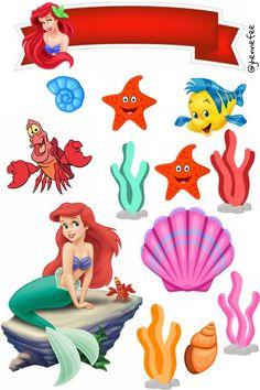 Little Mermaid Cake Topper, Little Mermaid Room, Alice In Wonderland Drawings, Barbie Images, Bakery Logo Design, Ariel Mermaid, Mermaid Birthday, Birthday Cake Toppers, Laura Lee