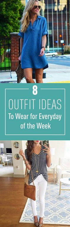 Are you just tired of thinking what to wear everyday? But still want to look good. Check out this collection that will help you to choose a casual chic outfit for everyday of the week.