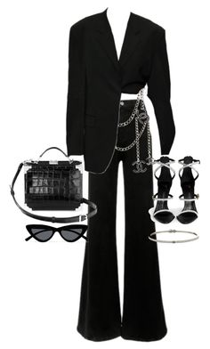 """""""Untitled #23611"""" by florencia95 ❤ liked on Polyvore featuring Frame, Aspinal of London, Giuseppe Zanotti and Le Specs"""