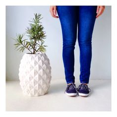 Welcoming the Piña Planter to our Stonecast Collection!  Creative Studio, Ios App, Instagram Accounts, Skinny Jeans, Collection, Design, Fashion, Moda, Fashion Styles